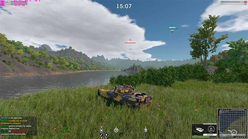 armor mmo - красивая графика, танк в поле