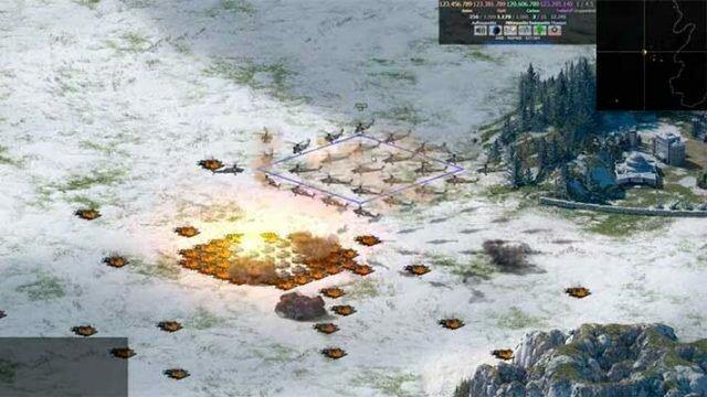 River Combat MMORTS - авиация уничтожает наземку