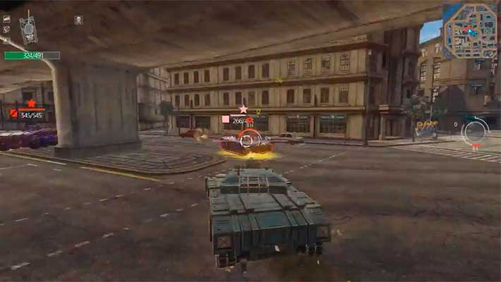 Infinite Tanks - битва танков на городской карте