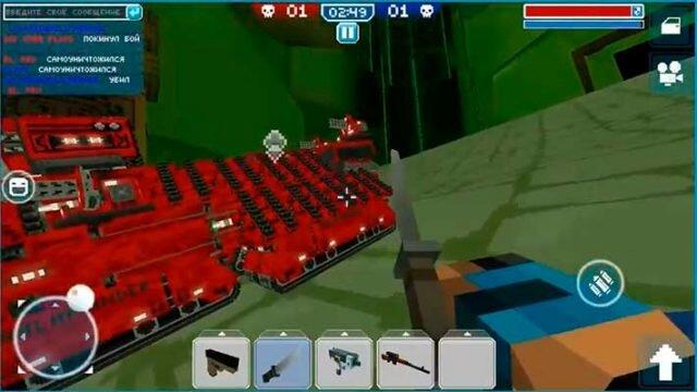 Blocky Cars Online - игрок вышел из машины в бою
