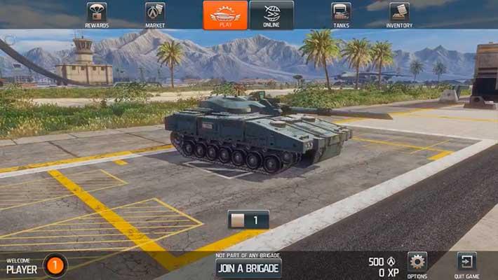 Infinite Tanks - ангар