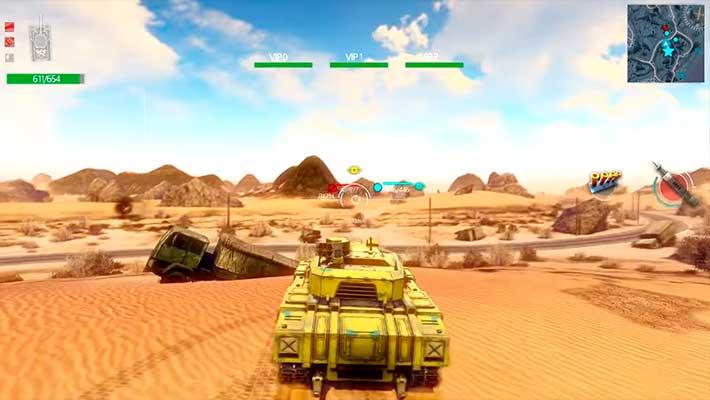 Infinite Tanks - танковый бой в пустыне