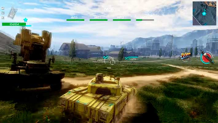 Infinite Tanks - кастомизированный танк на лесной карте