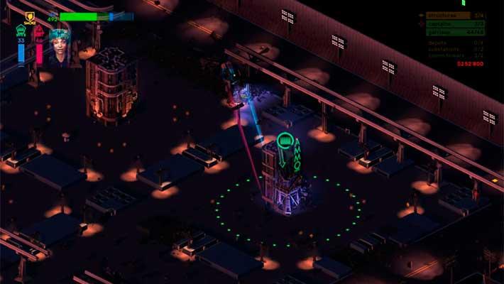 Brigador: Up-Armored Edition - огни футуристических городов