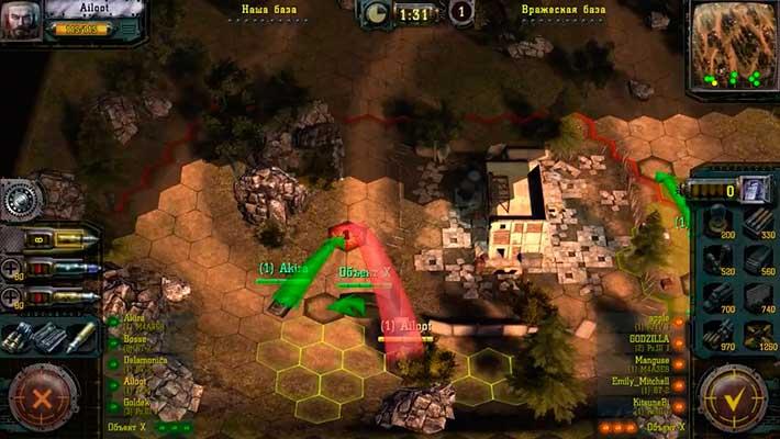 Find & Destroy: Tank Strategy - широкие тактические возможности