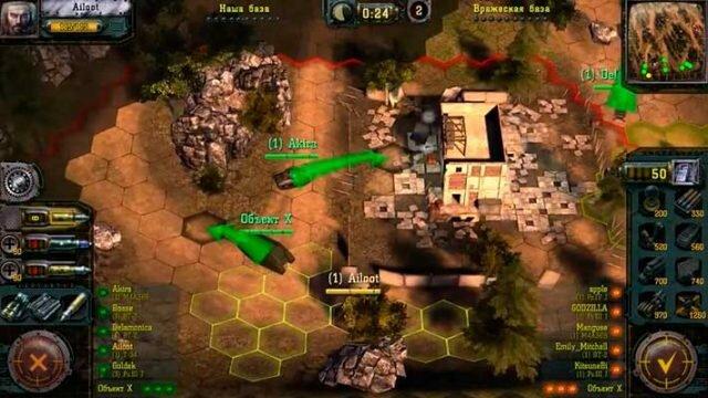 Find & Destroy: Tank Strategy - гексагональная карта
