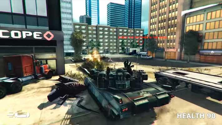 GearGuns Tank Offensive - битва в переулке