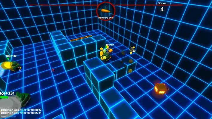 Better Off Tread - футуристическая карта из неоновых кубиков
