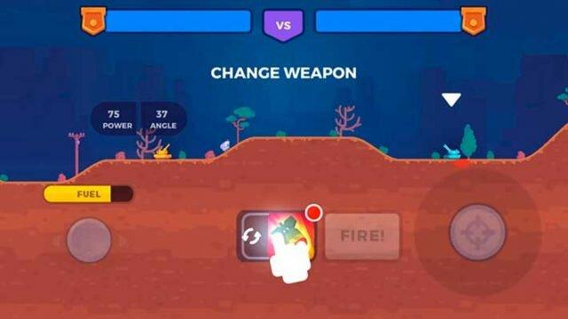 Tank Stars - игровой процесс против компьютера