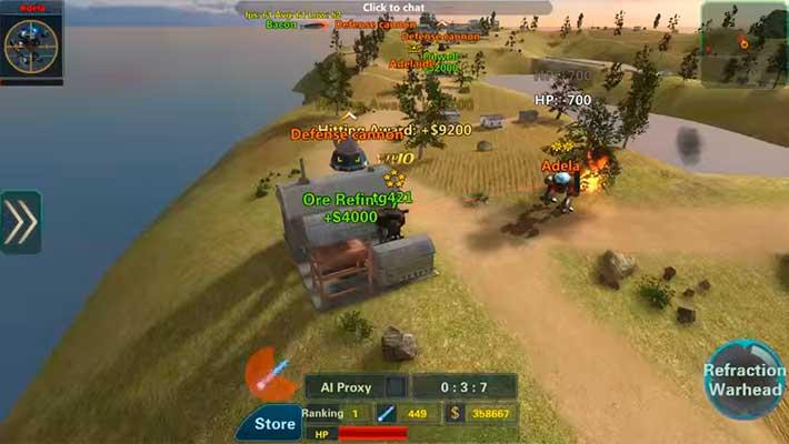 Assault Corps 2 - гемплея на роботе мехе