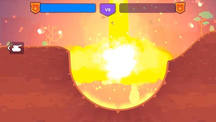 Tank Stars - большой взрыв от мощного снаряда