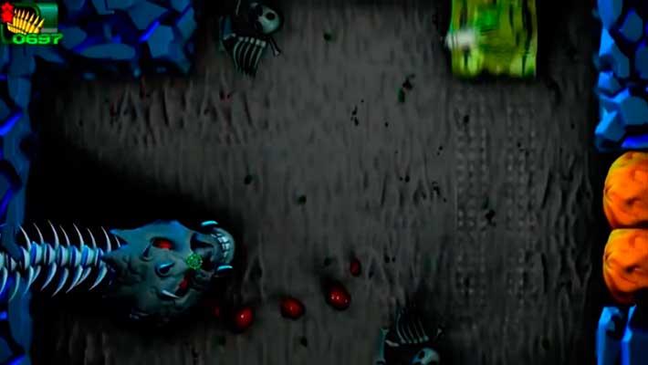 Iron Impact - битва с боссом, размытие из-за движения