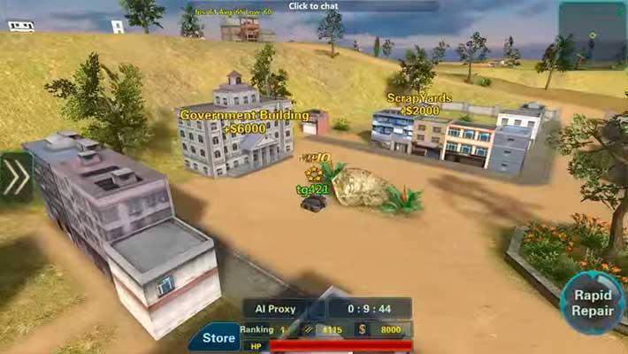 Assault Corps 2 - геймплей на танке