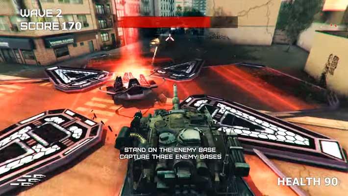 GearGuns Tank Offensive - раздаем инопланетянам из пулемета