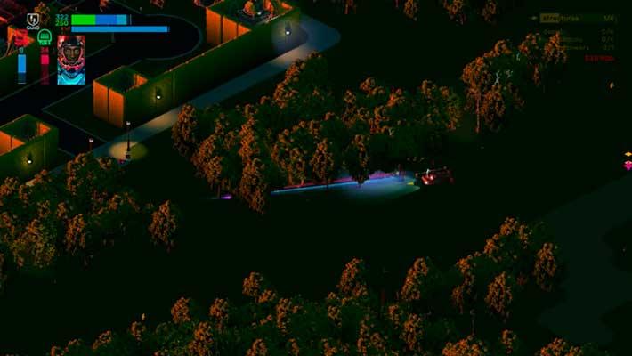 Brigador: Up-Armored Edition - лесистая карта в зеленых тонах