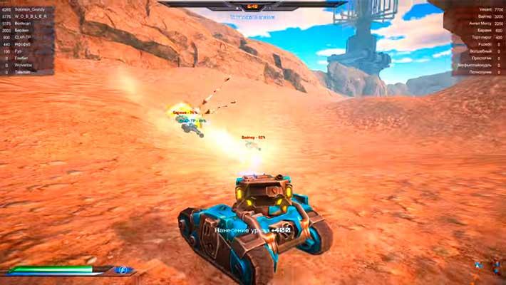 Impulse of War - геймплей на танке