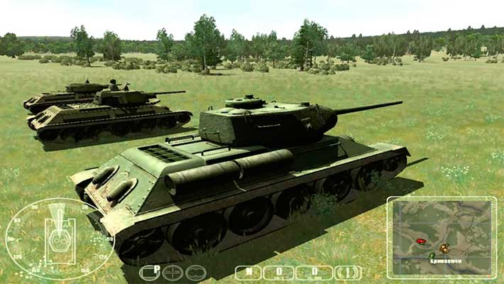 WWII Battle Tanks: T-34 vs. Tiger - начало миссии за СССР