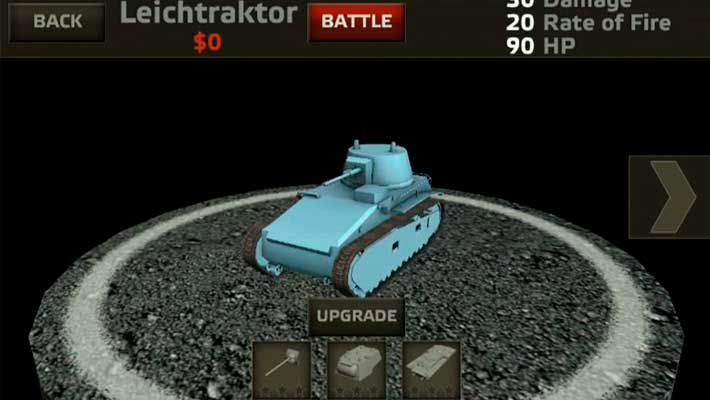 Tanks: Hard Armor - ангар