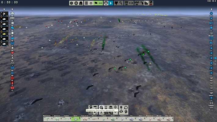 Tank Warfare: Tunisia 1943 - поле боя, вид сверху