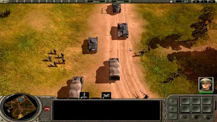 Codename: Panzers, Phase One - танки, грузовики, пехота