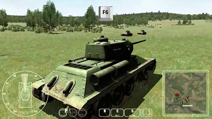 WWII Battle Tanks: T-34 vs. Tiger - выдвигаемся на Т-34