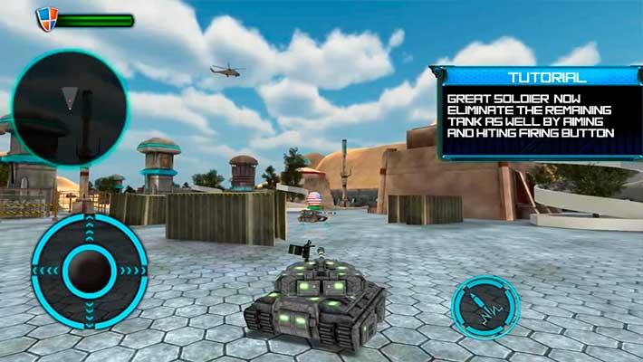 Tank Future Force 2050 - в городе
