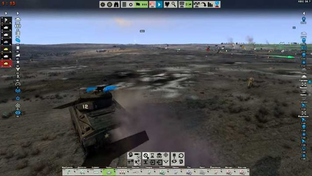Tank Warfare: Tunisia 1943 - танк обстреливает врагов