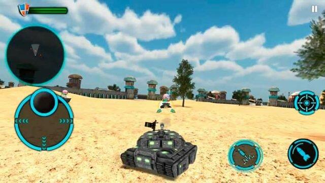 Tank Future Force 2050 - наводимся на врага