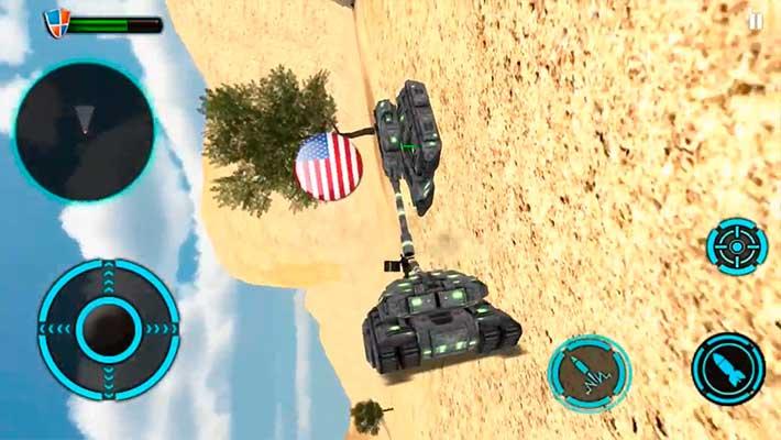 Tank Future Force 2050 - танк перевернулся