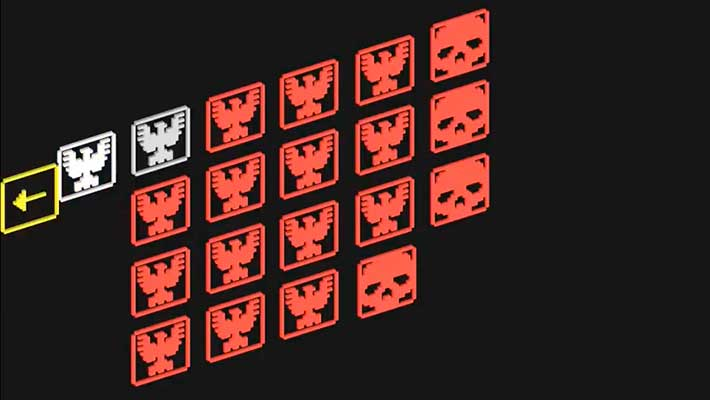 Voxel Tanks - окно выбора уровней
