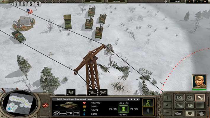 Codename: Panzers, Phase One - зимняя карта, выдвигаемся