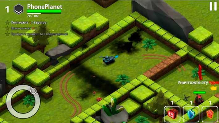 Block Tank Wars 3 - динамичный геймплей