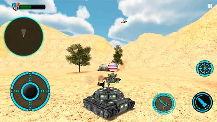 Tank Future Force 2050 - пустынная часть карты