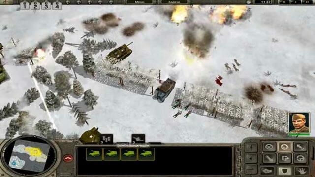 Codename: Panzers, Phase One - зимняя карта, атака на противника