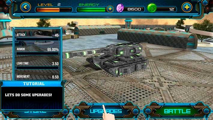 Tank Future Force 2050 - ангар