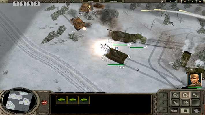 Codename: Panzers, Phase One - штурм на зимней карте