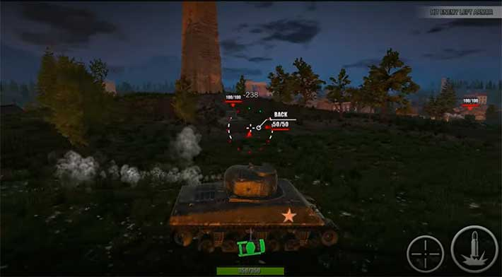 World Of Steel: Tank Force - дневные и ночные карты
