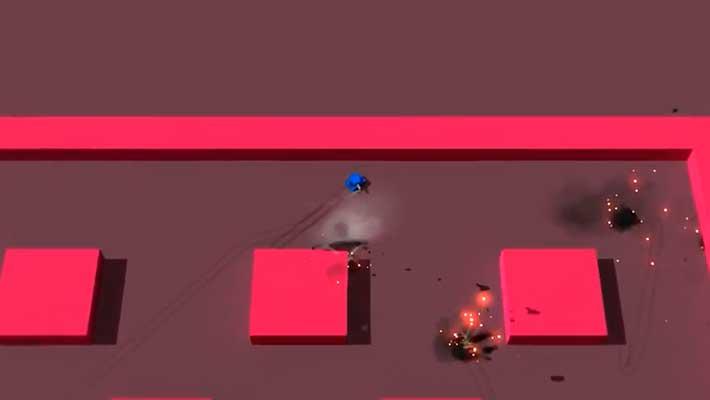 Tank Blast - розовый уровень