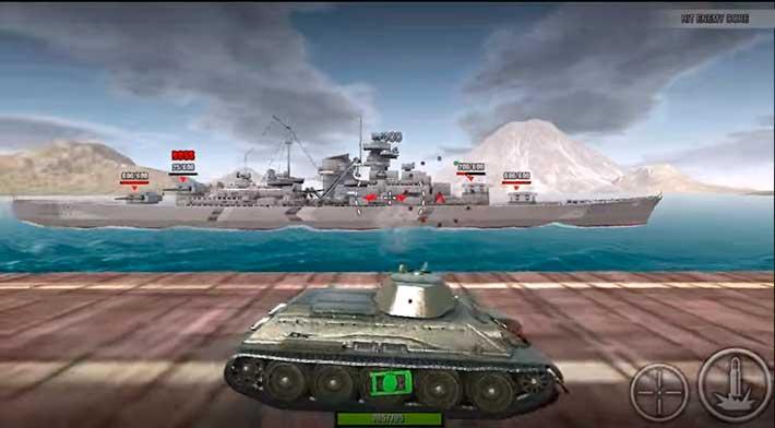 World Of Steel: Tank Force - уровень с боссом