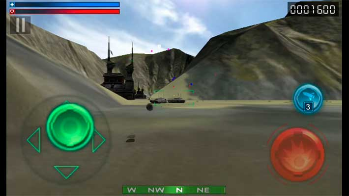 Tank Recon 3D - легкое управление