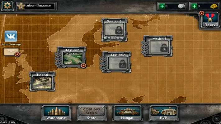 Armor Age: Tank Wars - миссии