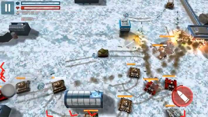 Tank Battle Heroes: Modern World of Shooting - массовая заруба