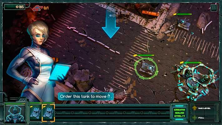 Tanks vs Aliens - обучающая миссия в начале игры
