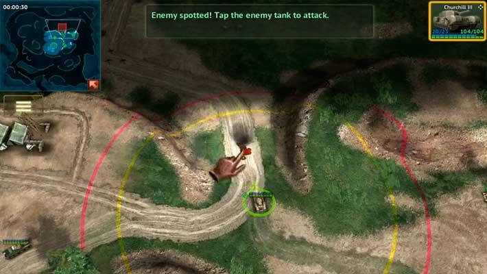 Armor Age: Tank Wars - вид сверху