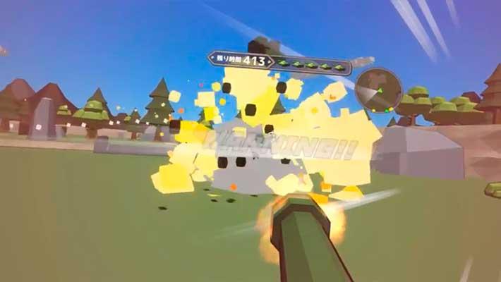 Voxel Tank VR - взрывы