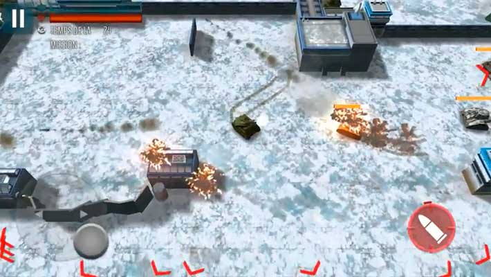 Tank Battle Heroes: Modern World of Shooting - на снежной карте
