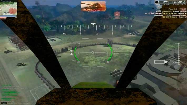Red Crucible: Reloaded - обстрел с вертолета
