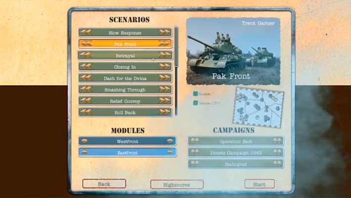 Tank On Tank Digital - 4 кампании, 19 сценариев