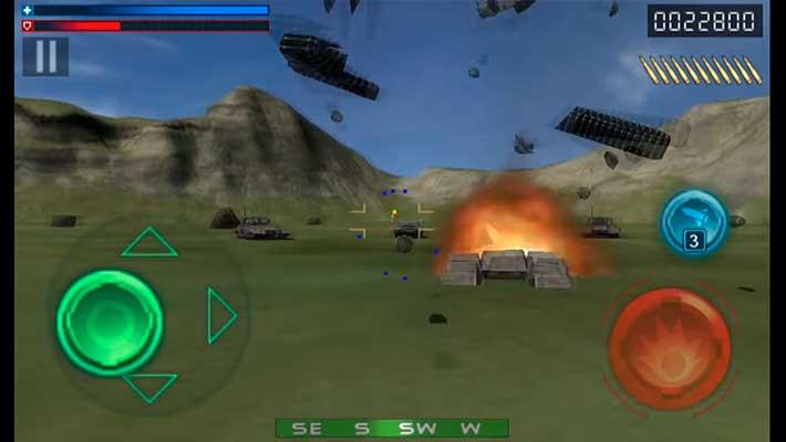 Tank Recon 3D - несколько видов врагов