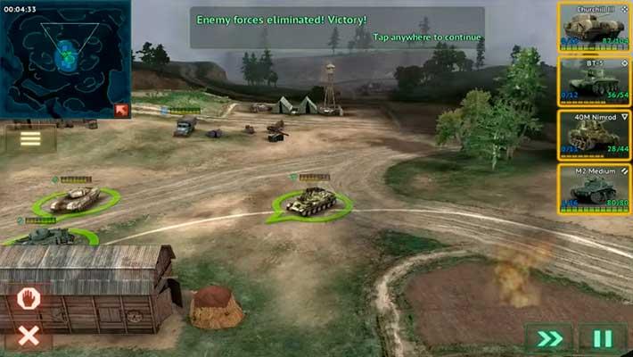 Armor Age: Tank Wars - камеру можно приблизить